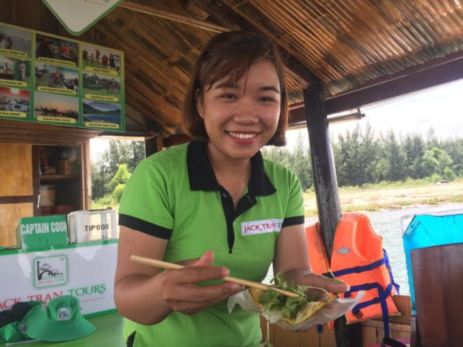Spring Roll Demonstration with Jack Tran Tours in Hooi An, Vietnam