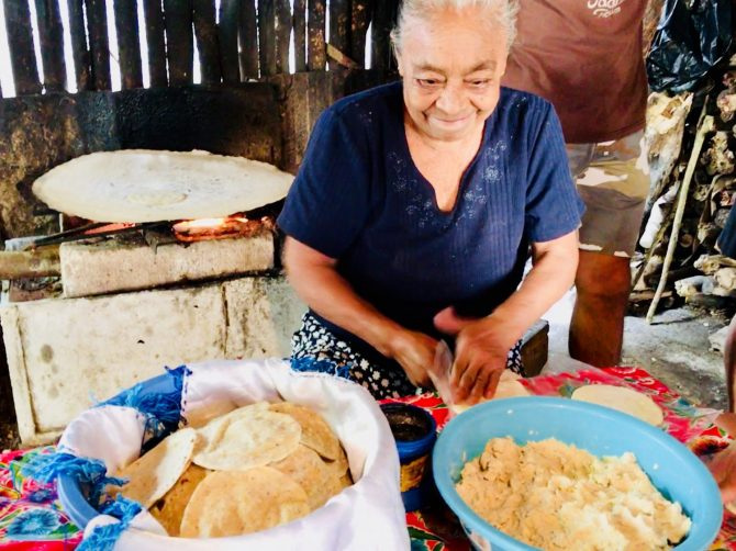 Tortilla Making on Mayan Experience Tour with Layla Guesthouse