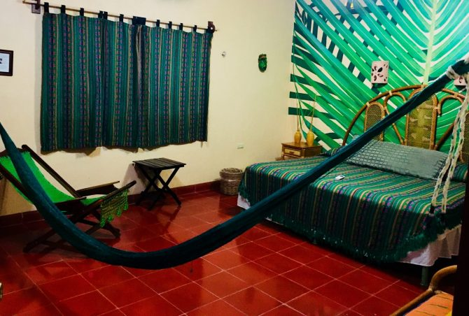 King Suite at Casa Hamaca Guesthouse in Valladolid, Mexico