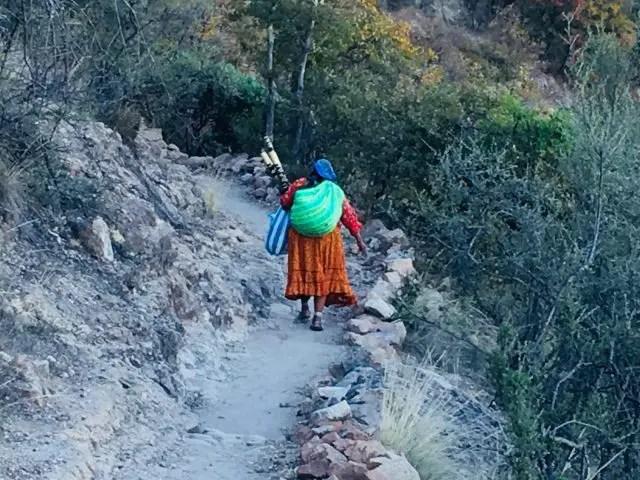 Taramuhara Woman in Posada Barrancas, Mexico