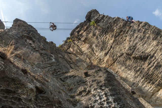 Via Ferrata Decin in the Czech Republic