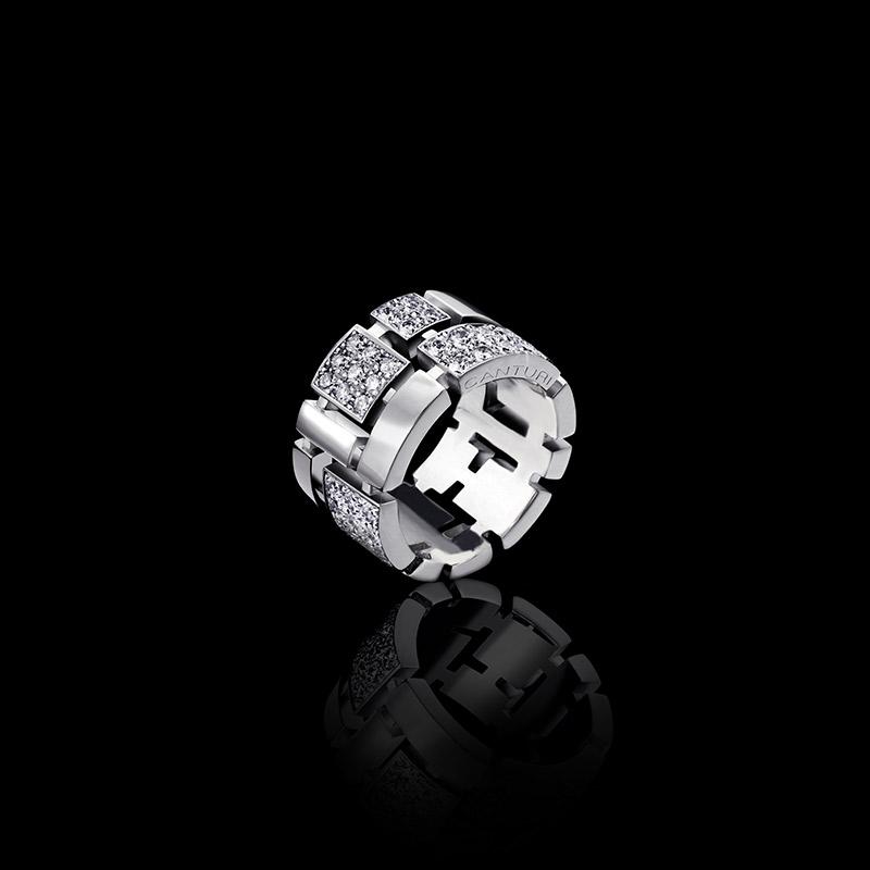 Jewels Cubism Pav Diamond Ring Canturi
