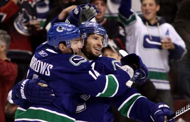 Alex Burrows, Ryan Kesler, Vancouver Canucks