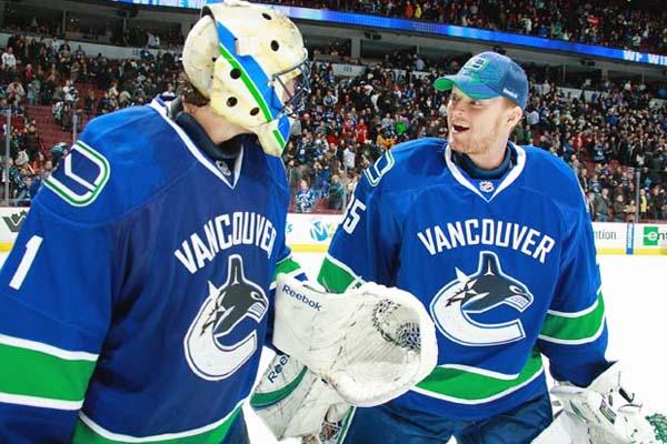 Roberto Luongo and Cory Schneider, Vancouver Canucks