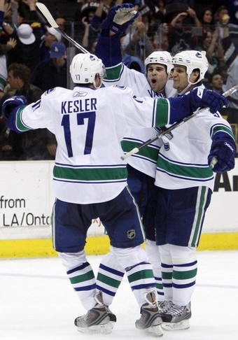 Mitchell, Kesler and Bieksa