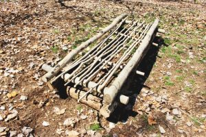 How to Make An Evergreen Bough Bed-frame