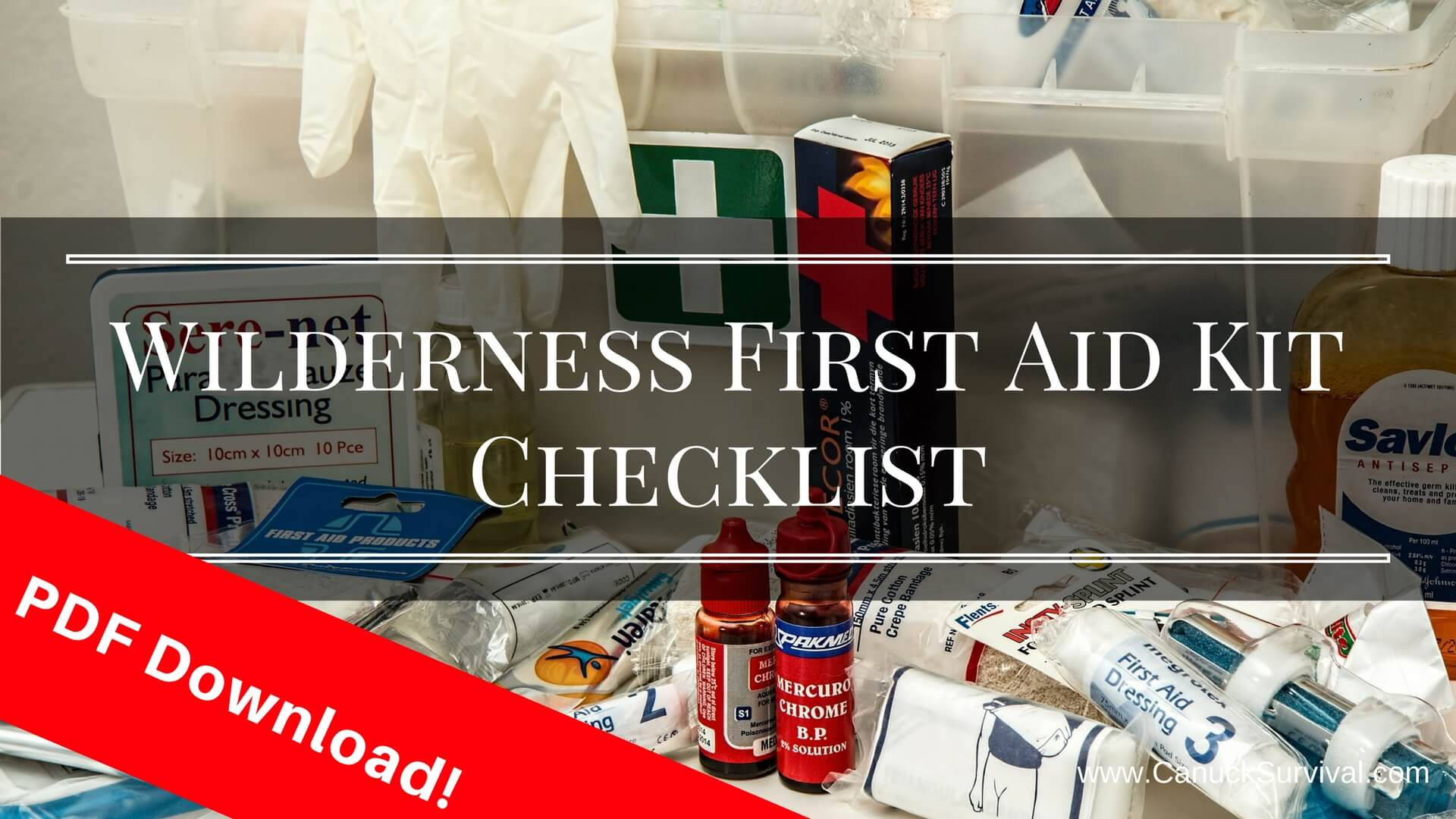 First Aid Kit Contents List And Their Uses