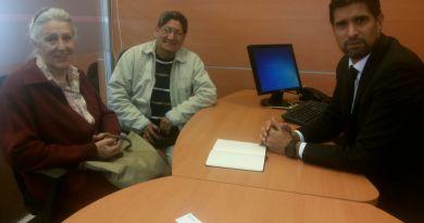 Autoridades de ATE en un encuentro con el gerente del BAPRO