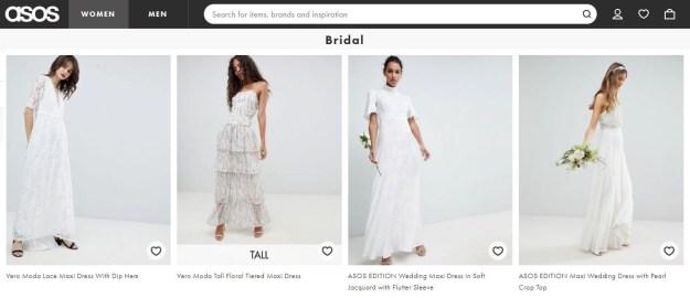 asos wedding dresses