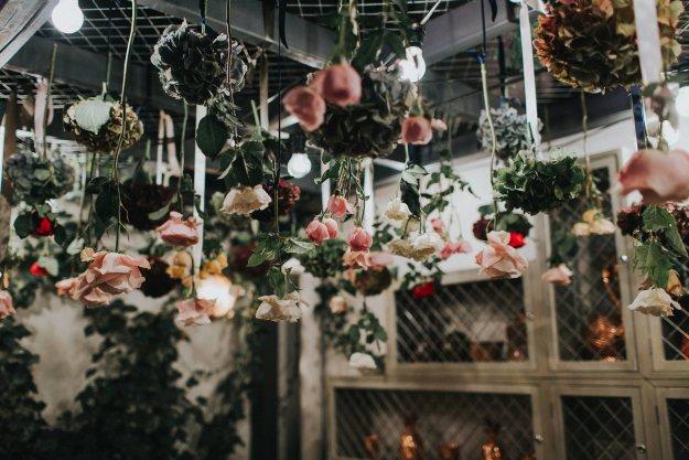 groucho club flower ceiling