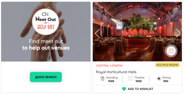 meet out to help out venues london