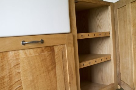 An image of the handcrafted oak and slate kitchen units