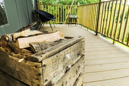 An image of a box of wood on the deck of Seren
