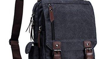6c5c521902a7 Leaper Canvas One Strap Sling Cross Body Messenger Bag Shoulder ...
