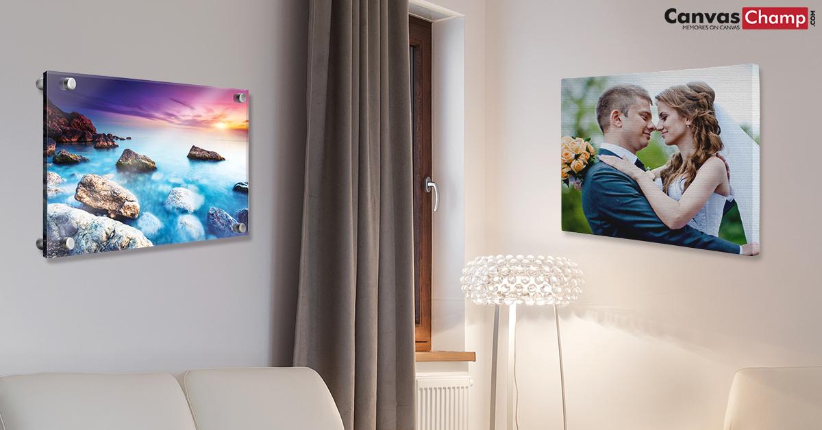 acrylic prints vs canvas prints which