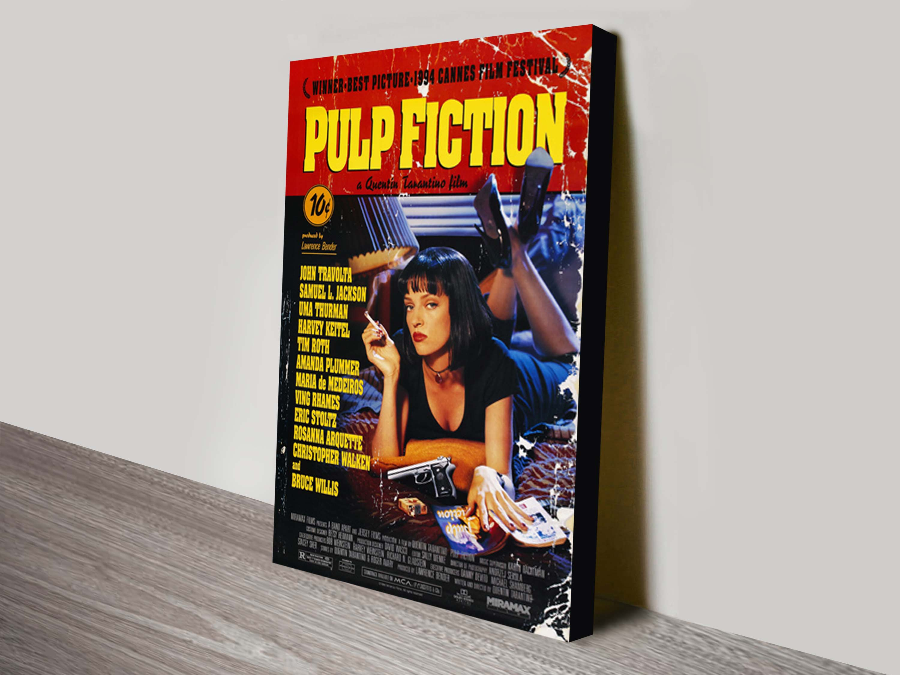 quality print of original vintage cult classic movie poster of pulp fiction