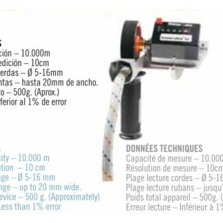 Professioneel touwmeettoestel (Cuentametros)
