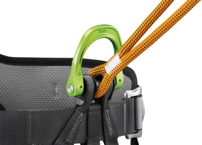 Petzl Dual Canyon Guide lanyard: Attaches directly to the pin of the gated attachment point on the CANYON GUIDE harness.