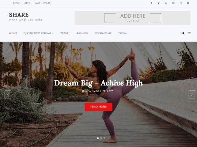 Shree wordpress blog theme