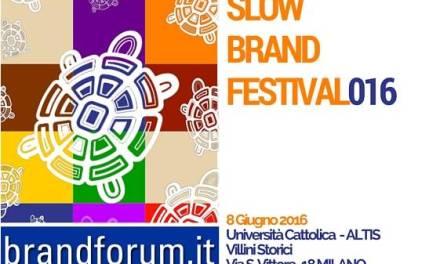 Invito  SLOW BRAND FESTIVAL – Milano 8 Giugno 2016