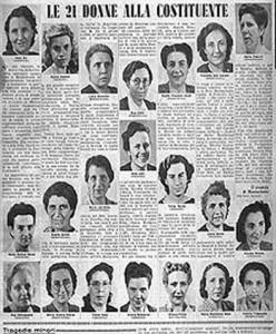 Le madri della costituente e le madri della gente d'Africa