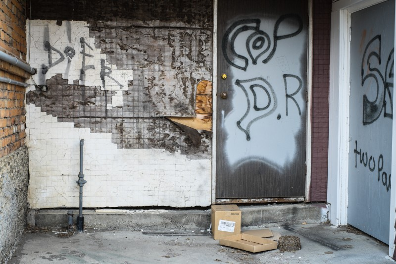 Graffiti, Blairmore Alberta, Harry Palmer, Photographer