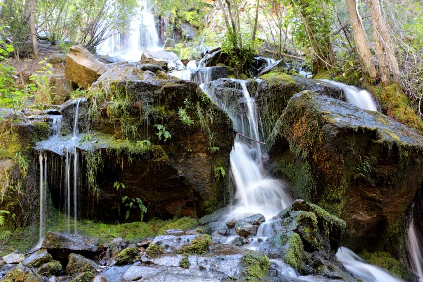 Waterfall at Naramata Creek Park - north east of Penticton BC, Bob Agar Photographer 2015