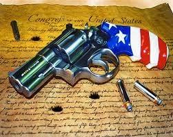 redwhiteblue pistol