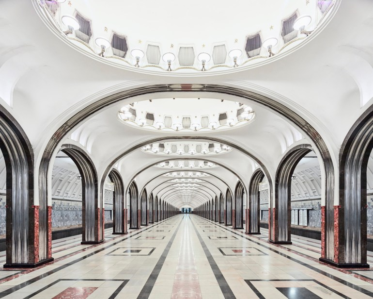 David Brdeny Maykovskaya Metro Train Station Russia 2015