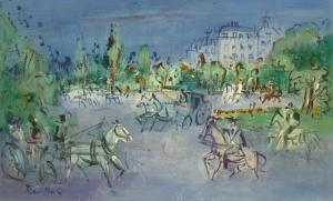 Jean Dufy Caleches et cavaliers