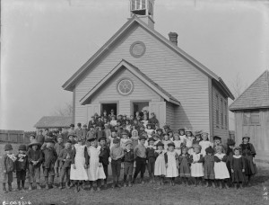 School House and Class 1898 Library and Archives Canada