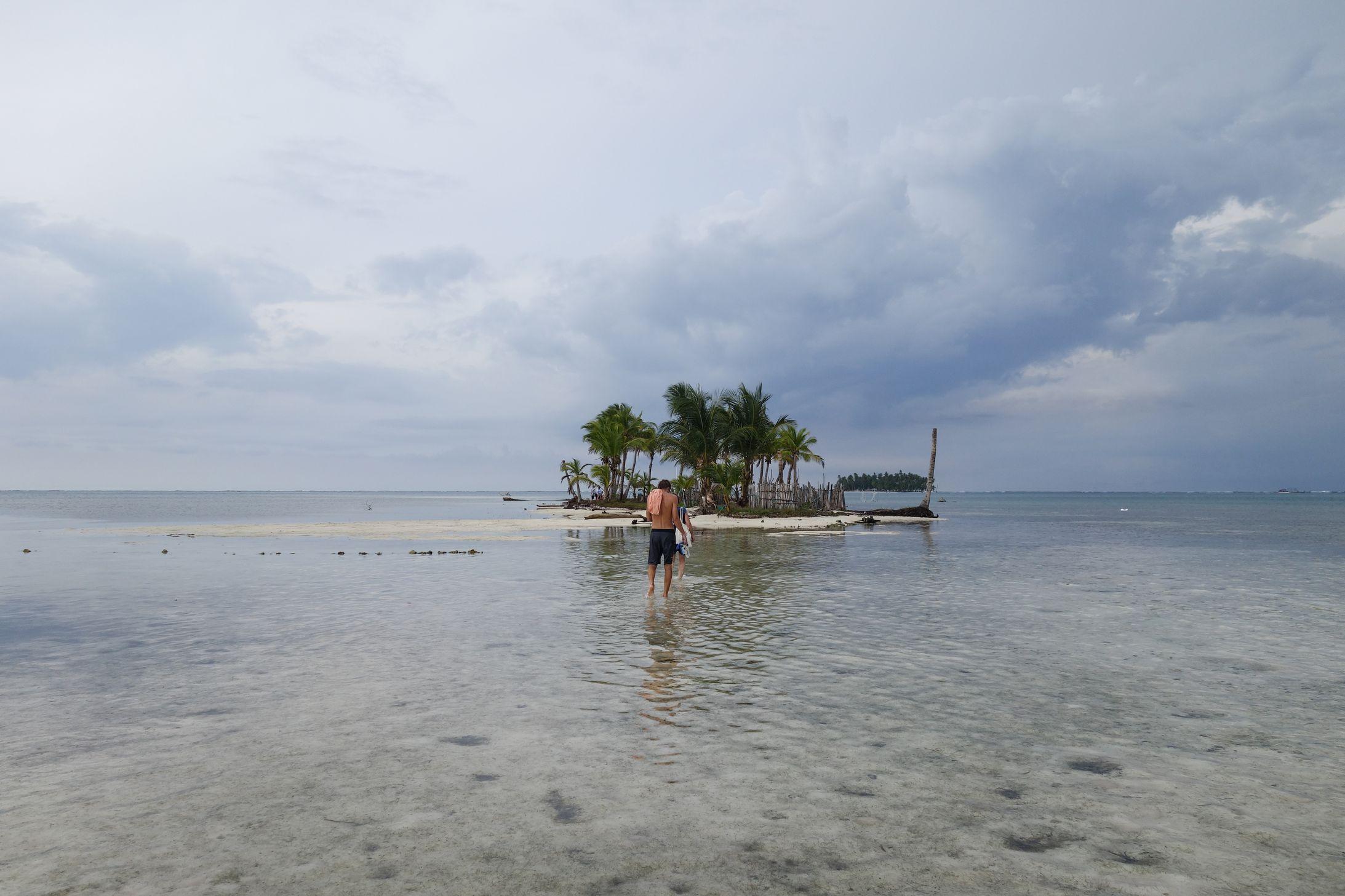 San blas île deserte
