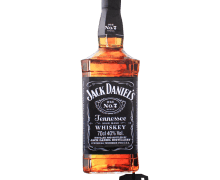 Voile Bottle Flag Jack Daniel's face