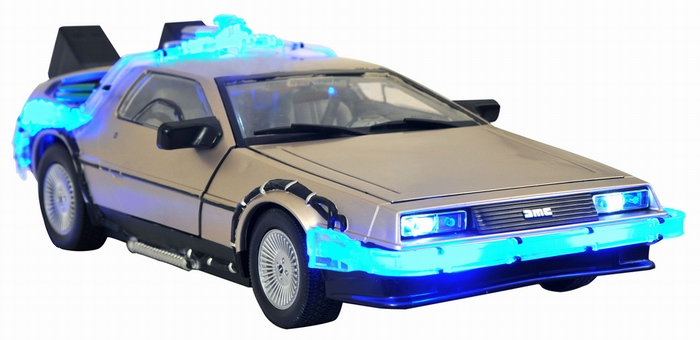 back to the future mark 1 delorean vehicle electronic lights and sounds 1 15