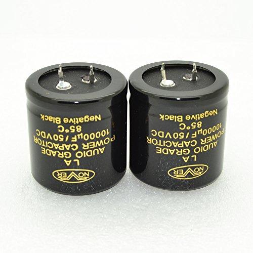2pcs Nover La 10000uf 50v Audio Grade Power Capacitor 4001