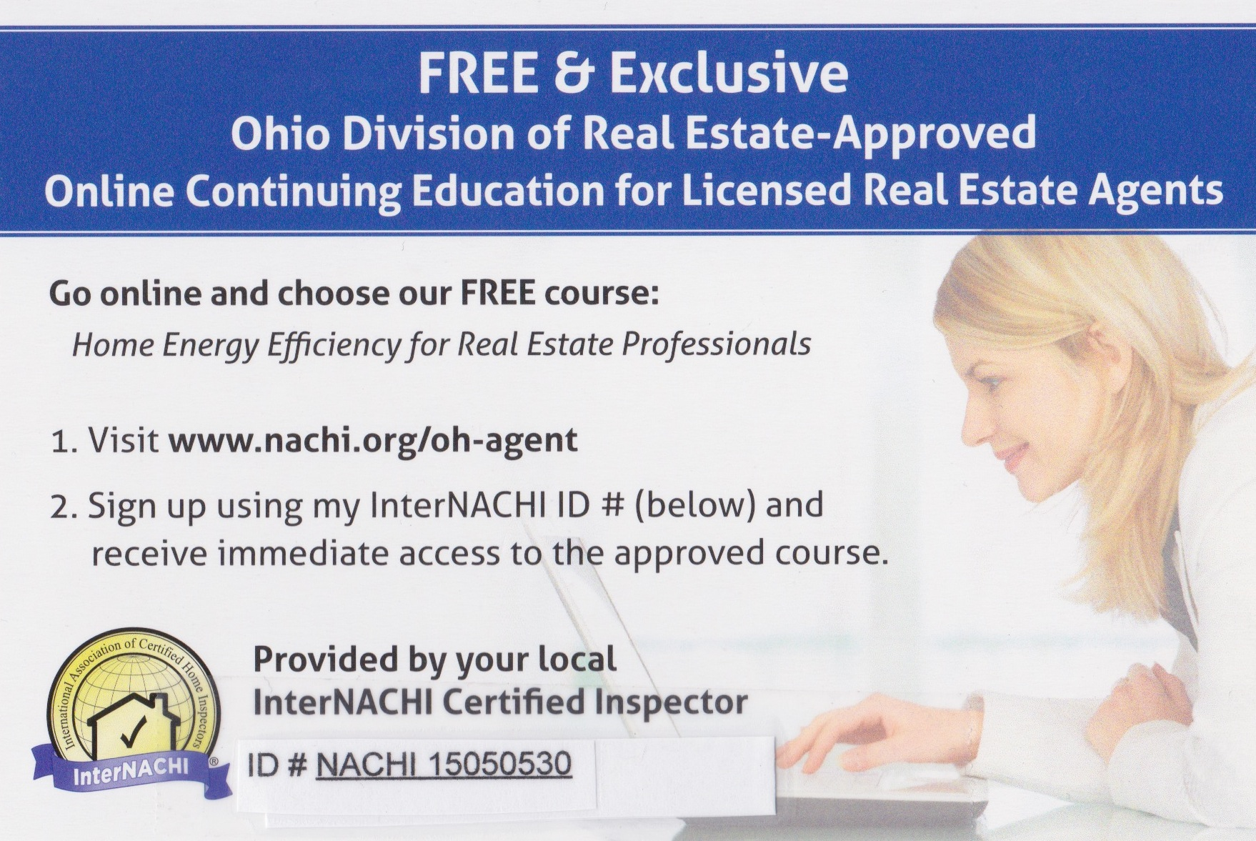 Ohio Realtor Continuing Education  - Home Inspections