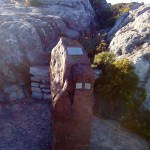 The safety memorial on Table Mountain