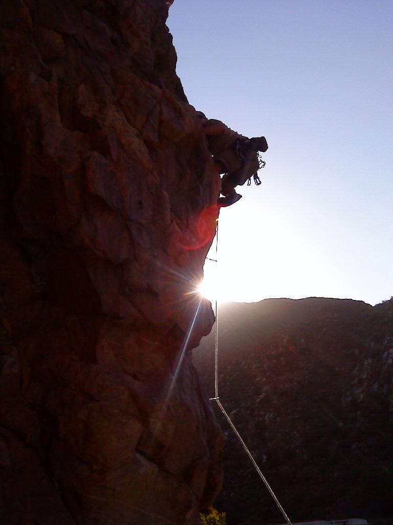 Climbing Legoland at dusk, Montagu
