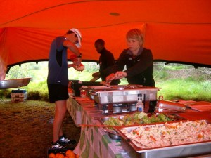 Otter African Trail Run 2010 lunch