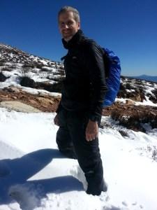 Ascending Matroosberg Peak