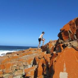 Trail running on Robberg Peninsula, Plettenberg Bay