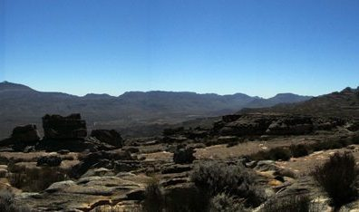 Sneeuberg from top of Wolfberg, Central Cederberg