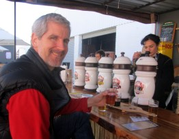 Beer tasting, Mitchell's Lagoonside Brewery