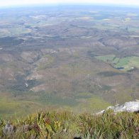 Panorama of Riversdale from the summit of Sleeping Beauty