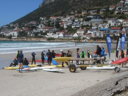 Fish Hoek Nippers getting ready for action