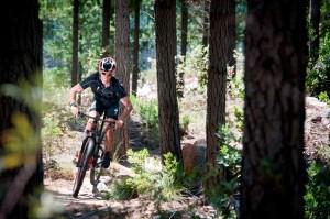 Olympian, Richard Murray enjoying the Jonkershoek Mountain Bike (MTB) Trails. Photo Credit ~ Cherie Vale / NEWSPORT MEDIA