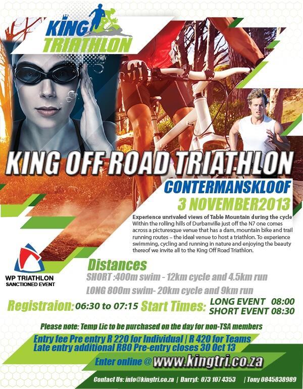 King off-road Triathlon 2013 flyer