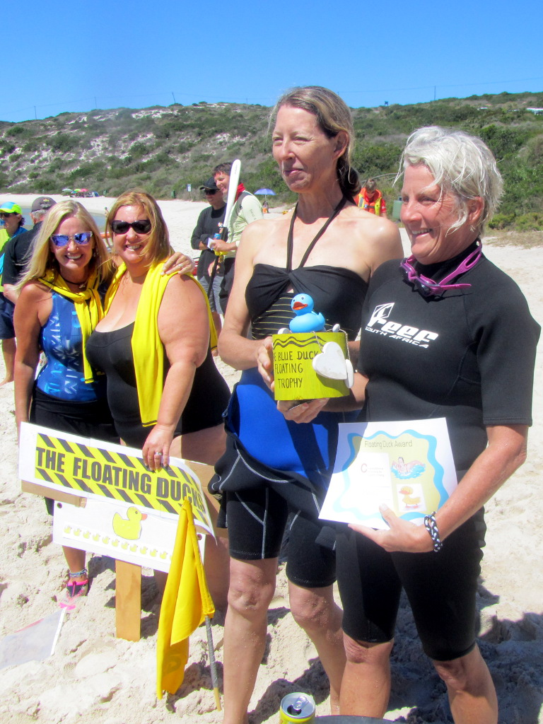 The Floating Ducks prize-giving at the Langebaan Lagoon Crossing 2014
