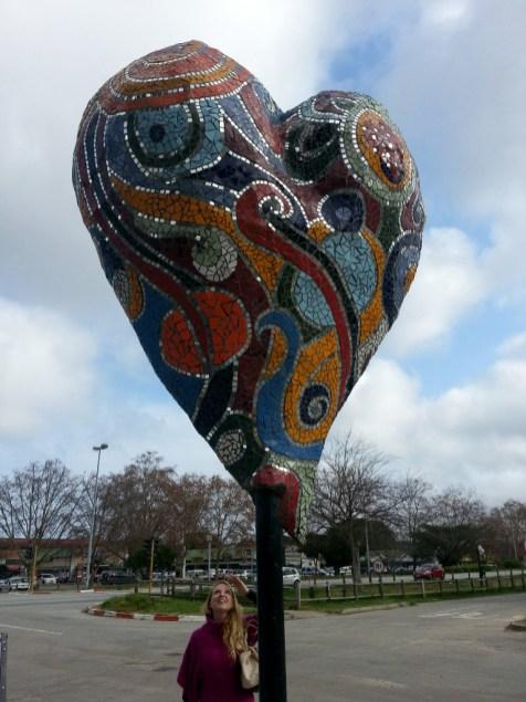 Mosaic heart, Sedgefield