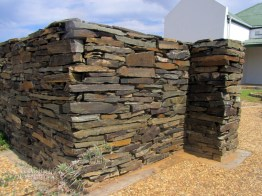 Slate walls, Roodewerf Office, Tankwa Karoo National Park